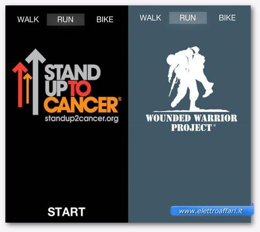 Immagine dell'applicazione Charity Miles per iPhone