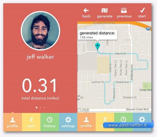 Immagine dell'applicazione Mile Mapper per iPhone