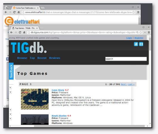 Immagine del sito The Independent Gaming Source per scaricare giochi gratis