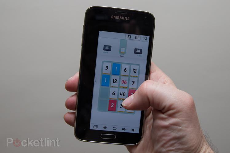 Immagine della modalità ridotta per usare il telefono con una sola mano