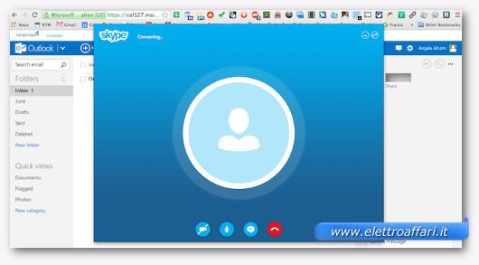 Immagine di Skype usato dal browser
