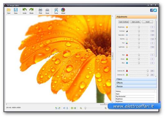 Immagine del programma PC Image Editor