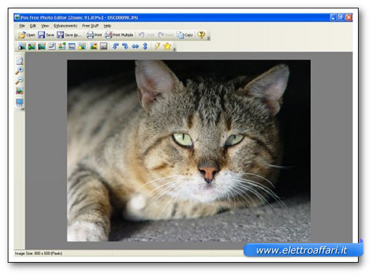 Immagine del programma Pos Free Photo Editor
