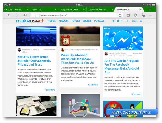 Immagine del browser Dolphin per iPad