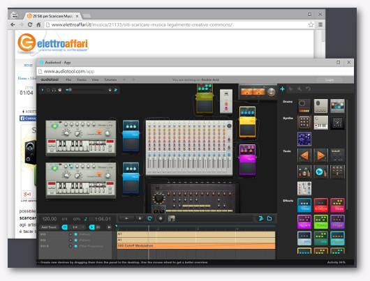 Immagine del sito Audiotool