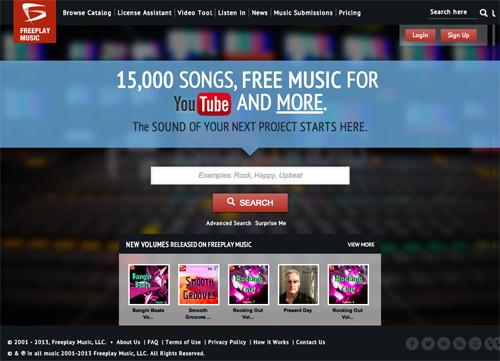 Immagine del sito FreePlay Music