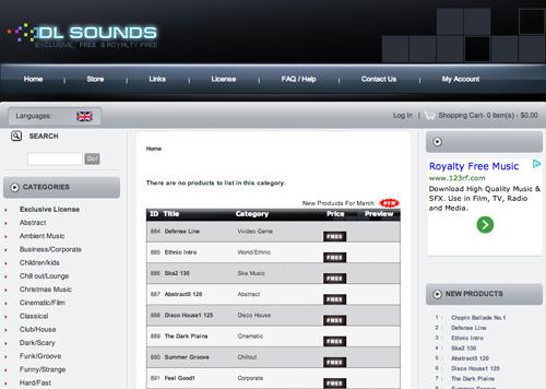 Immagine del sito DL Sounds