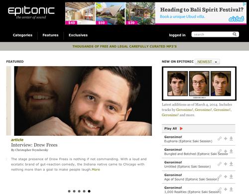 Immagine del sito Epitonic