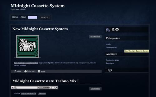 Immagine del sito Midnight Cassette System