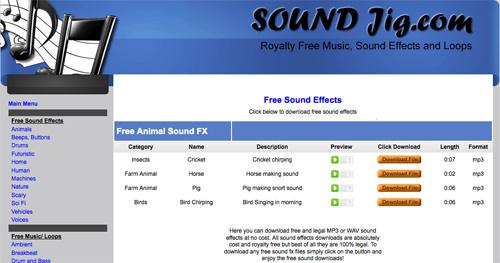 Immagine del sito Sound Jig