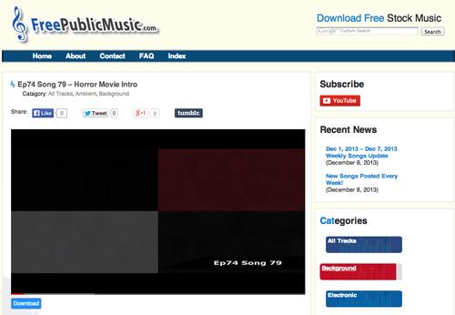 Immagine del sito FreePublicMusic