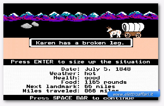 Immagine del gioco Oregon Trail