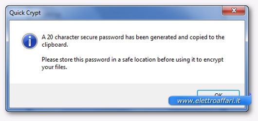 procedura per criptare il file