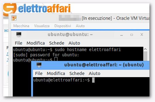 cambiare hostname su linux senza riavviare
