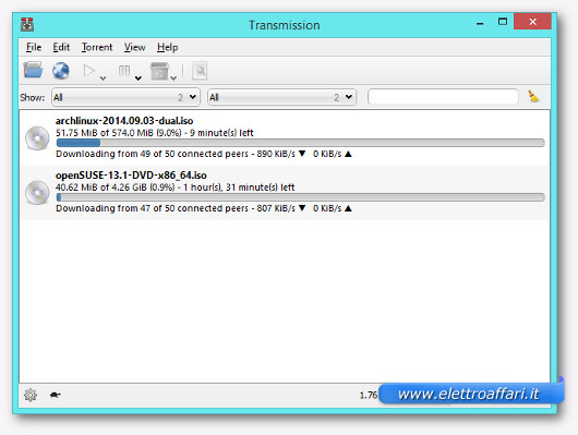 trasmission come alternativa a utorrent