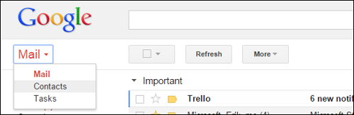 esportare i contatti da gmail