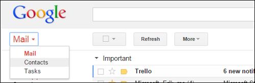 importare i contatti su gmail