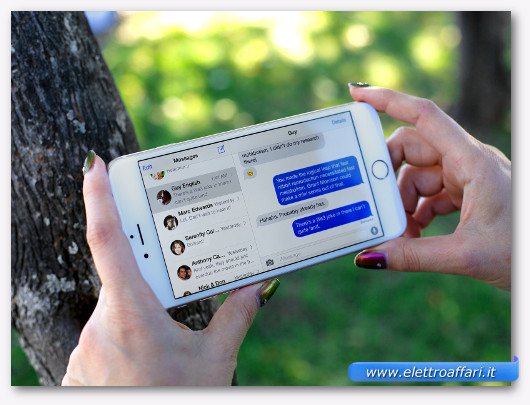 wathsapp e sms sull'iphone 6 plus