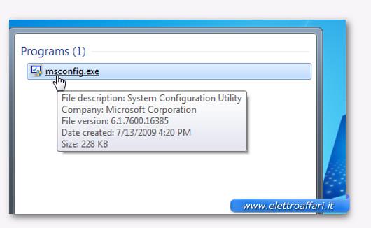disabilitare avvio automatico dei programmi su windows