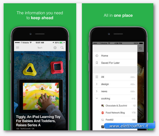feedly per iphone
