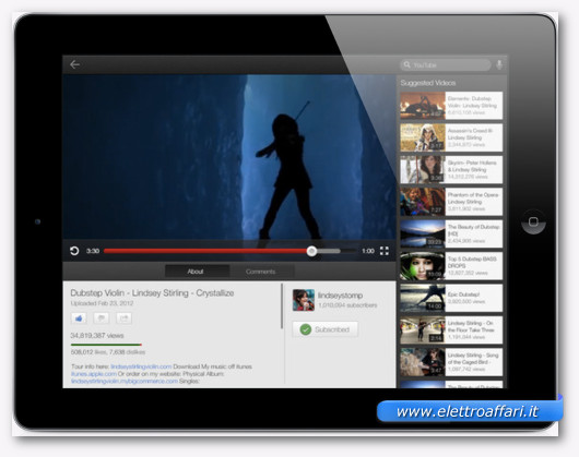 app youtube per ipad