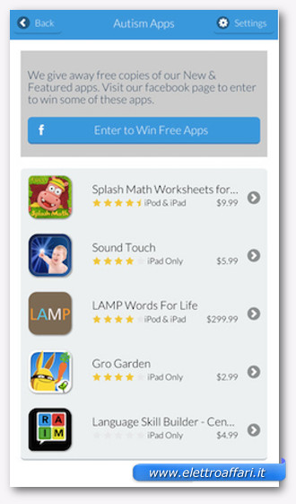 app per autistici
