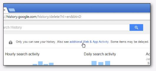 eliminazione della cronologia di google chrome
