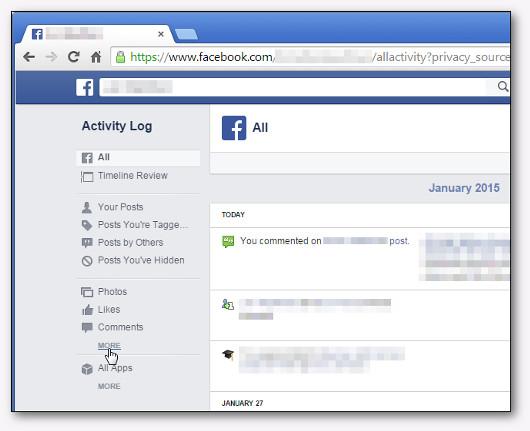 impostazioni di facebook