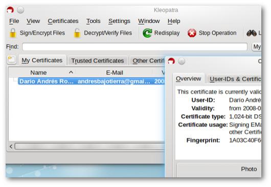 kleopatra per criptare i file