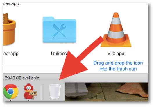 come disinstallare programmi su mac