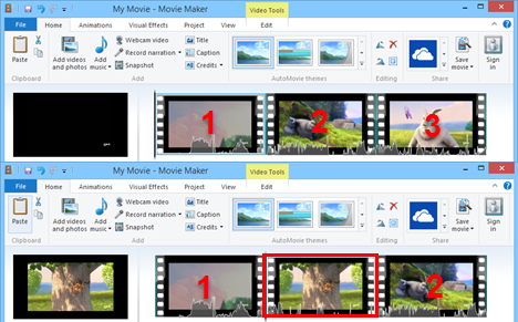 video in windows movie maker