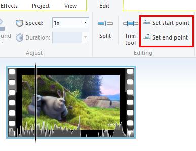 editare il video