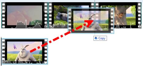 incollare una scena di un video