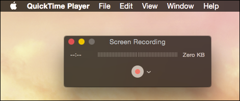 nuova registrazione dello schermo mac
