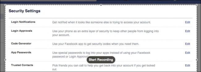 sicurezza per la registrazione dello schermo su mac
