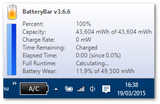 BatteryBar per portatili