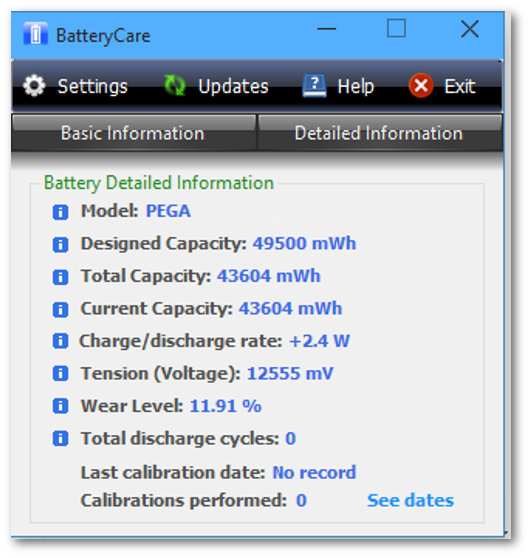 BatteryCare per laptop