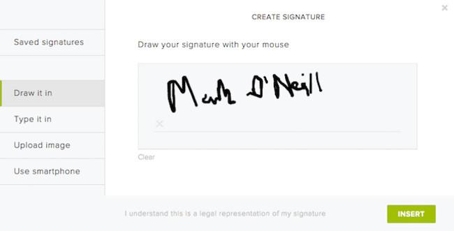 hello sign per la firma dei pdf
