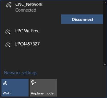 disconnessione della rete wireless