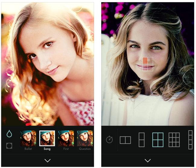 app per i particolari sui selfie