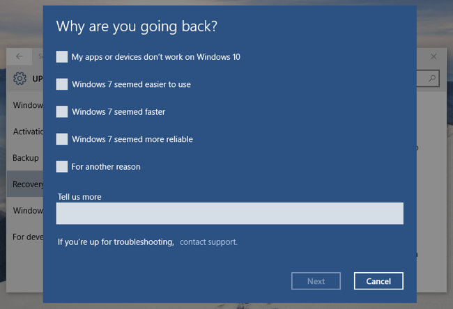 disinstallare windows 10