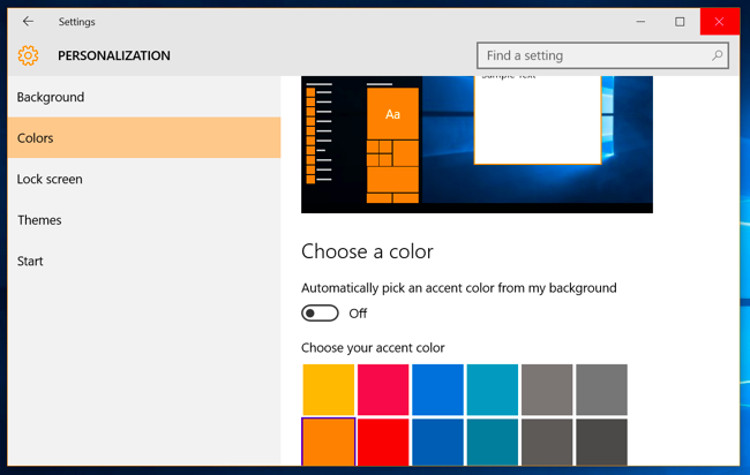 personalizzazione schermata di login