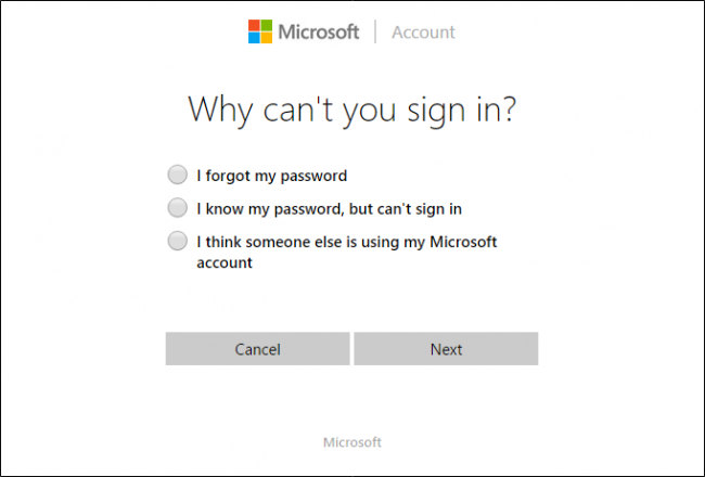 resettare la password su windows 10