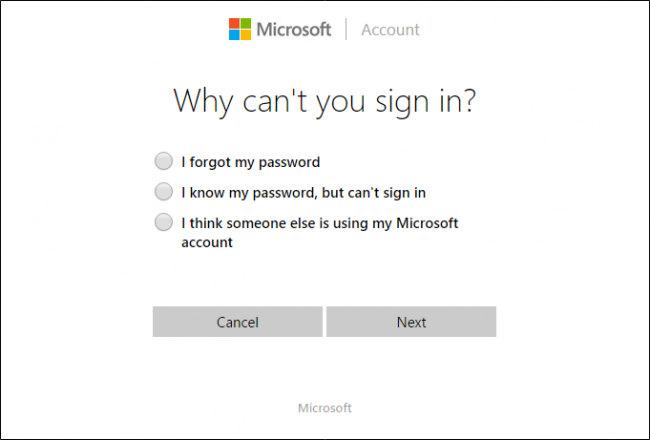 resettare la password su windows 10
