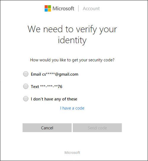 esempio schermata password