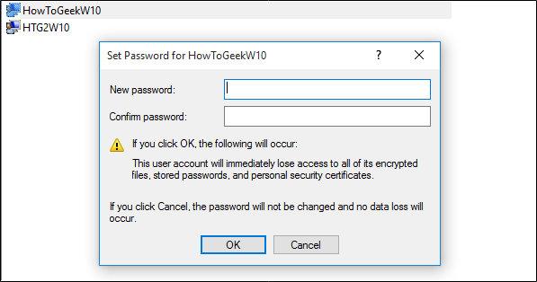 inserimento nuova password
