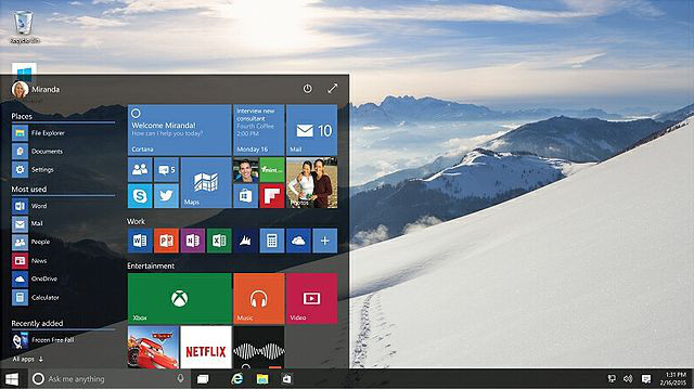 passare da windows 8 a windows 10