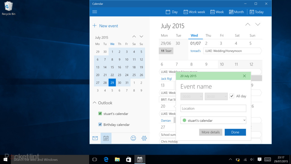 app calendario per windows 10