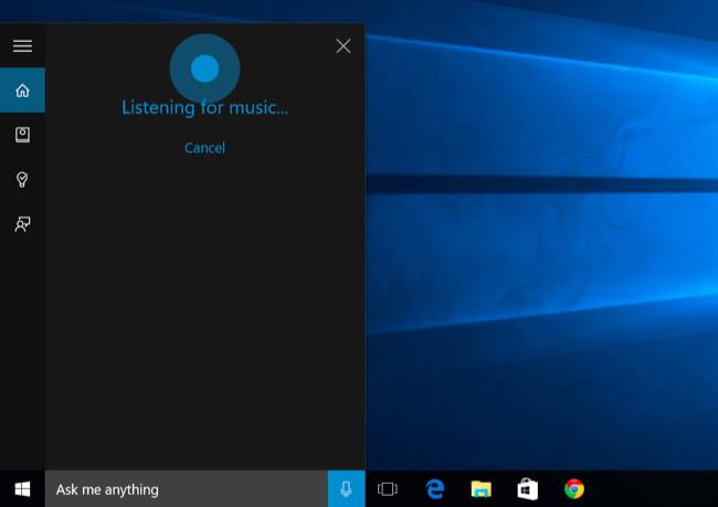 riconoscere una canzone con windows 10