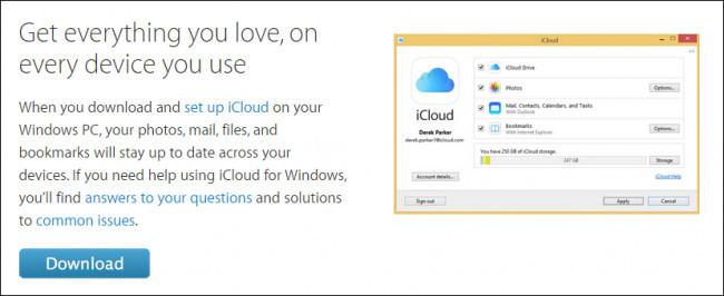 Utilizzo di iCloud su Windows